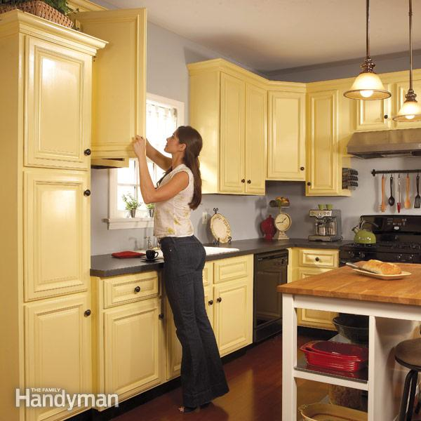 How to Spray Paint on Kitchen Cabinets