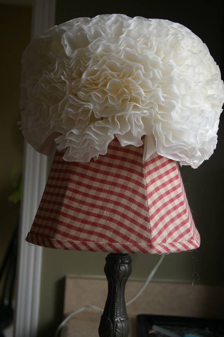 Coffee Filter Lamp Shade: One of Its Kinds!