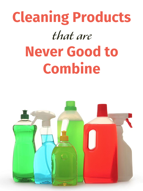 Cleaning Products that are Never Good to Combine