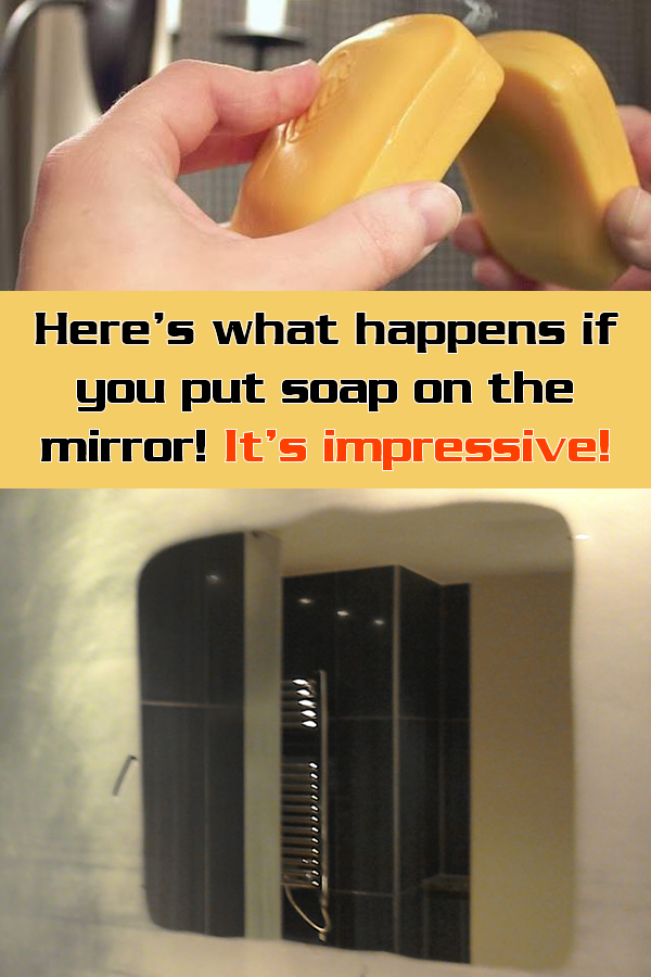 Here's what happens if you put soap on the mirror! It's impressive!