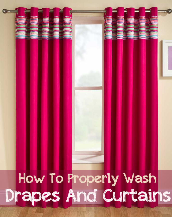 How To Properly Wash Drapes And Curtains