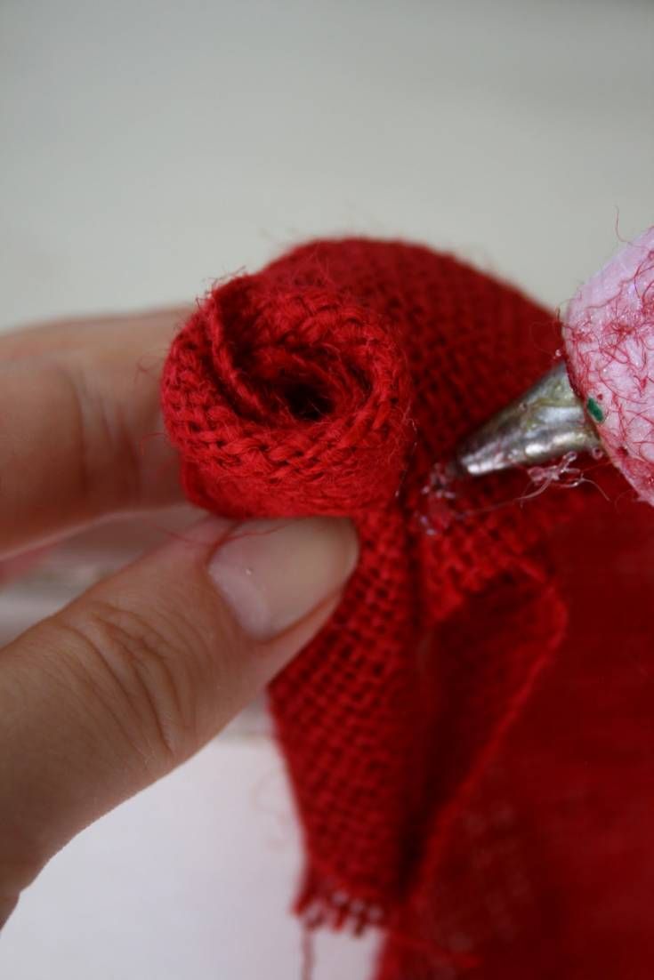 How to Create Red Burlap Rose