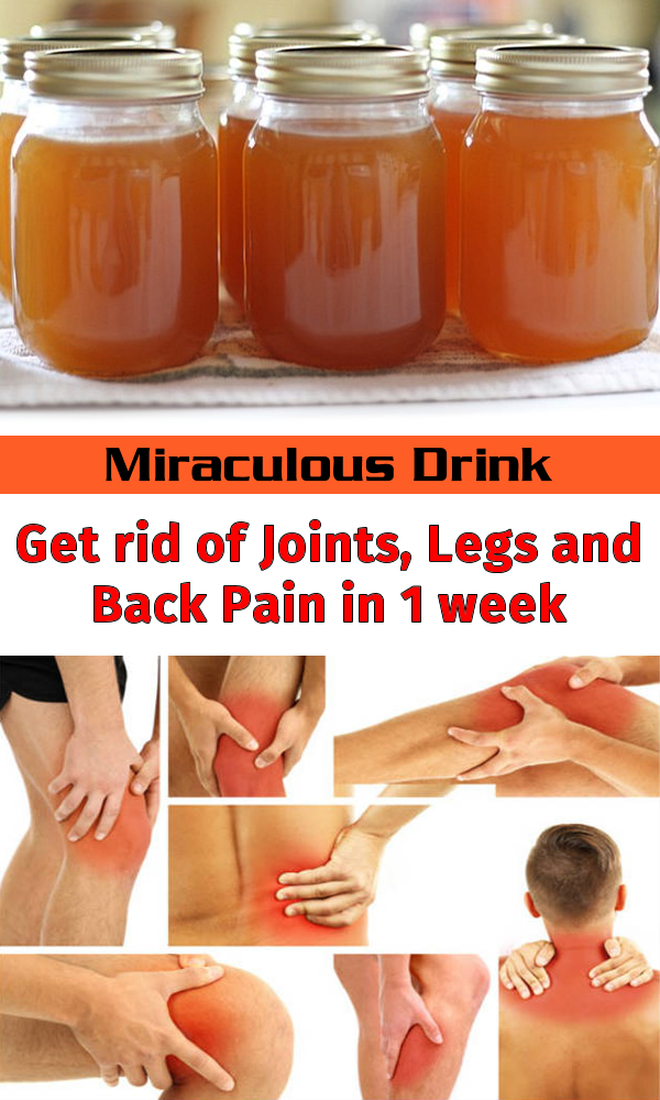 Miraculous Drink - Get rid of Joints, Legs and Back Pain in 1 week