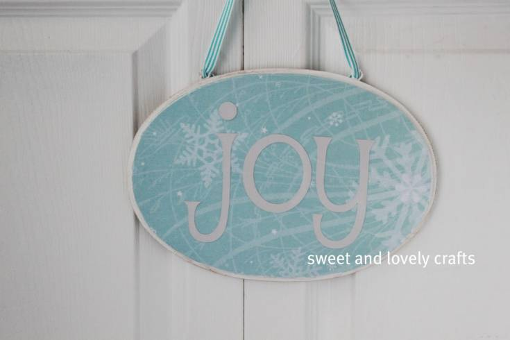 Steps To Make Wooden Joy Sign for Christmas