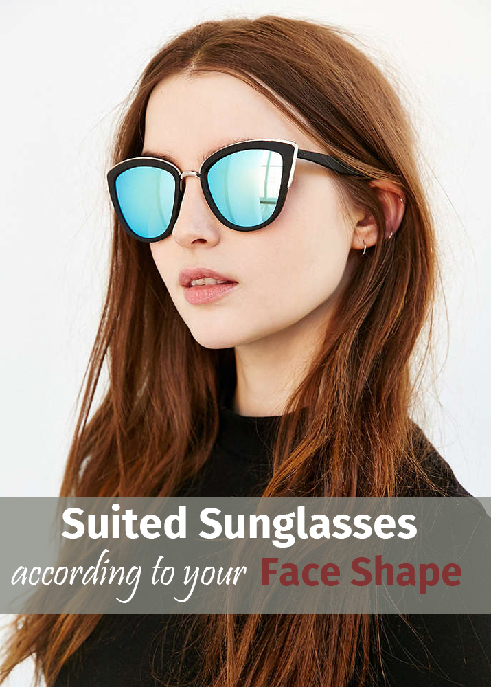 Suited sunglasses according to your face shape