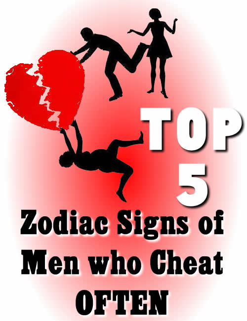 TOP 5 Zodiac signs of men who cheat often