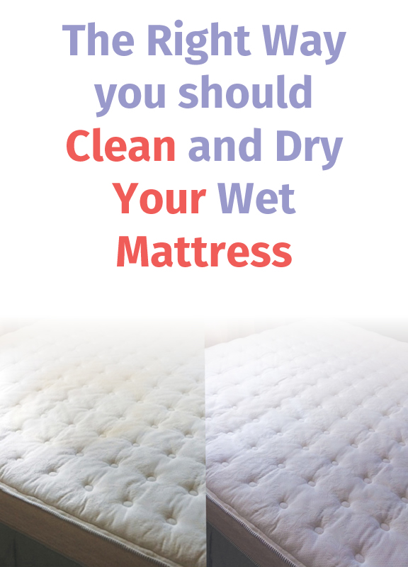 The Right Way you should Clean and Dry your Wet Mattress