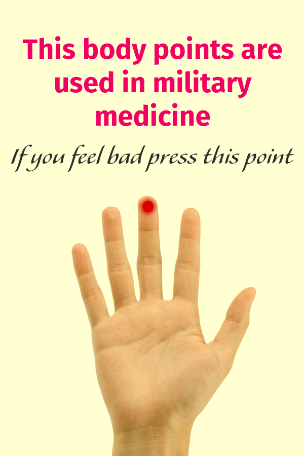 This body points are used in military medicine