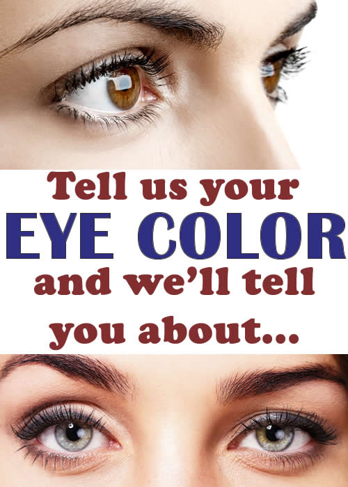 To what diseases you are predisposed in function of color of eyes