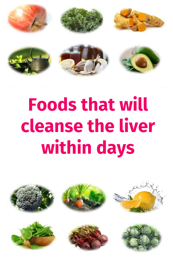 foods that will cleanse the liver within days