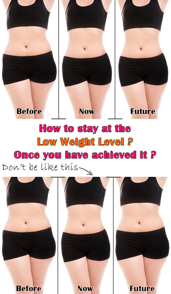 How to stay at the Low Weight Level once you have achieved it