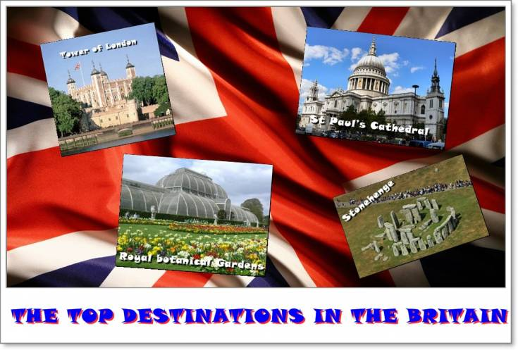The top destinations in the Britain