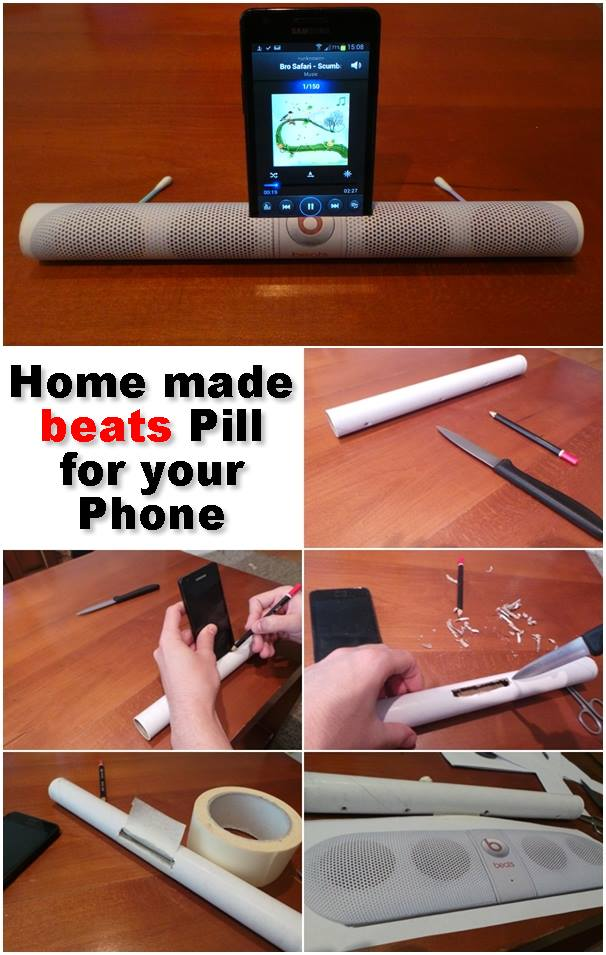 home made beats pill for your phone