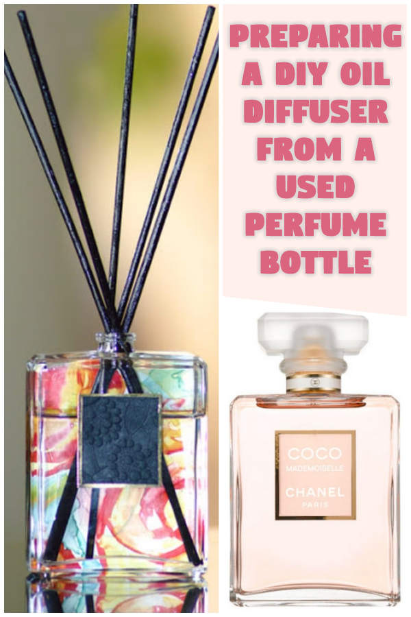 Preparing a DIY Oil Diffuser from a Used Perfume Bottle