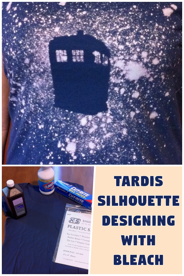 Tardis Silhouette: Designing with Bleach