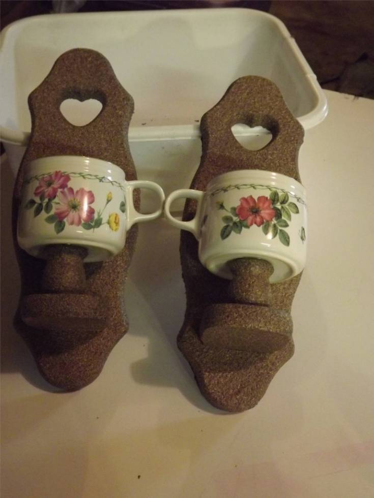 Coffee cup flower pot holders