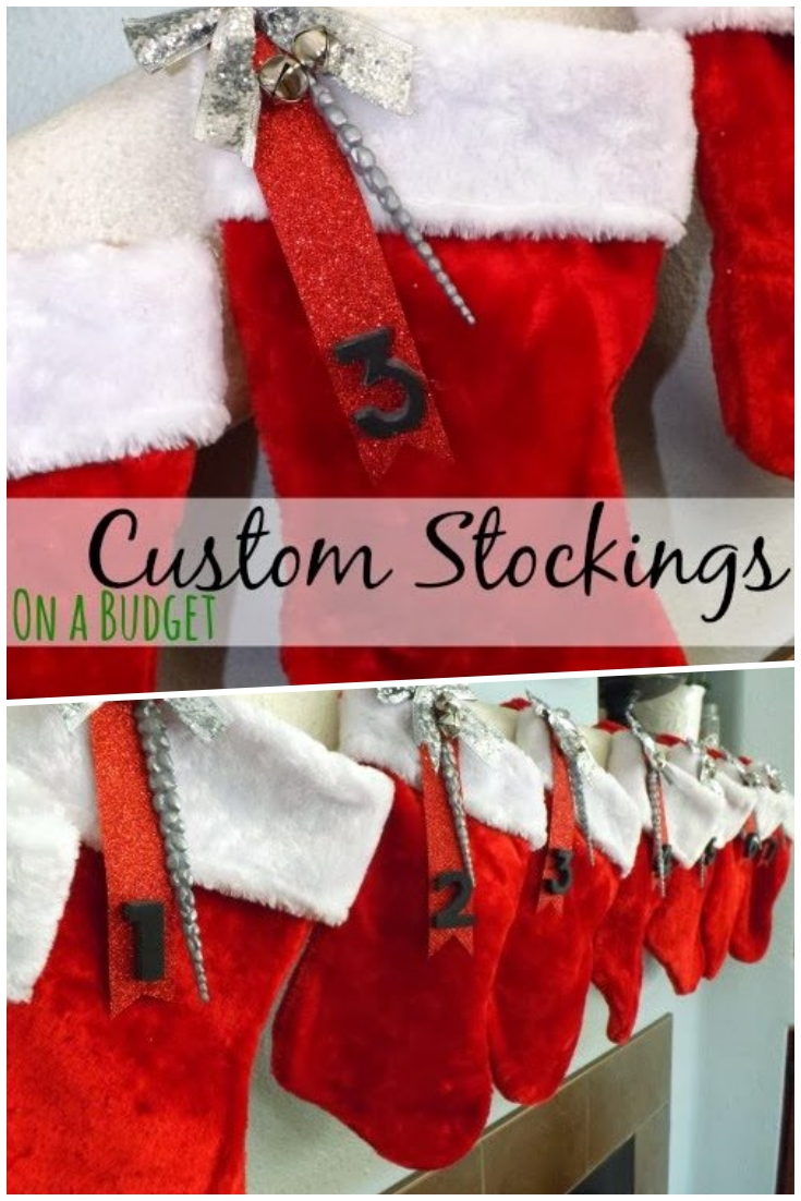 Custom Stockings on a Budget
