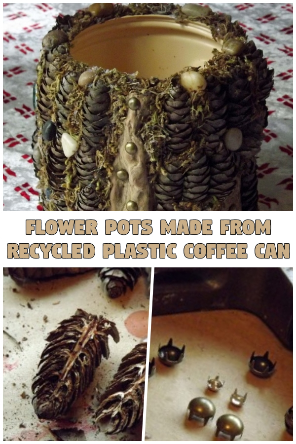 Flower Pots Made From Recycled Plastic Coffee Can