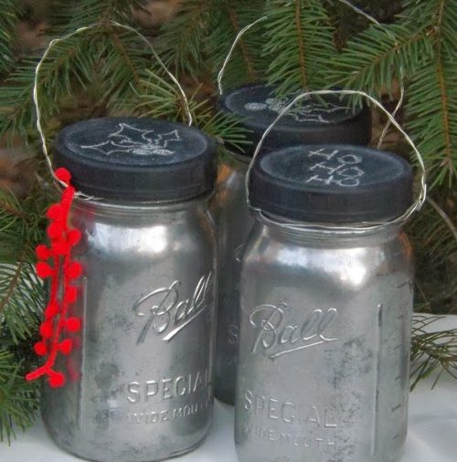 Mercury Glass Mason Jar Lanterns