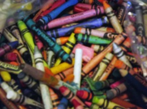 Crayon's Melted on Art Canvas Projects