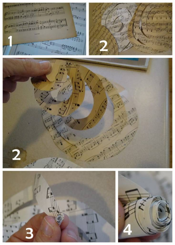 DIY Rolled Paper Rosettes