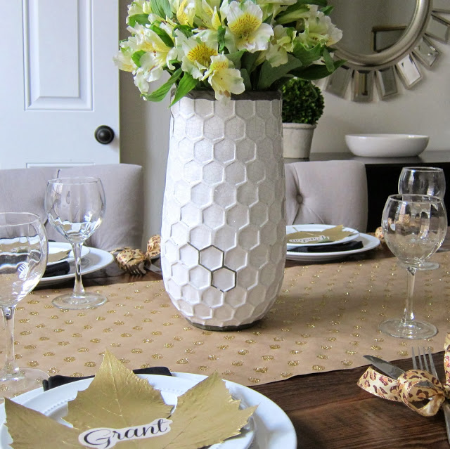 DIY Gold Thanksgiving Table
