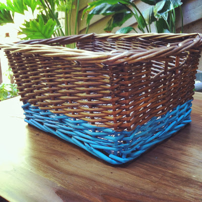 Make a paint dipped basket without dipping!