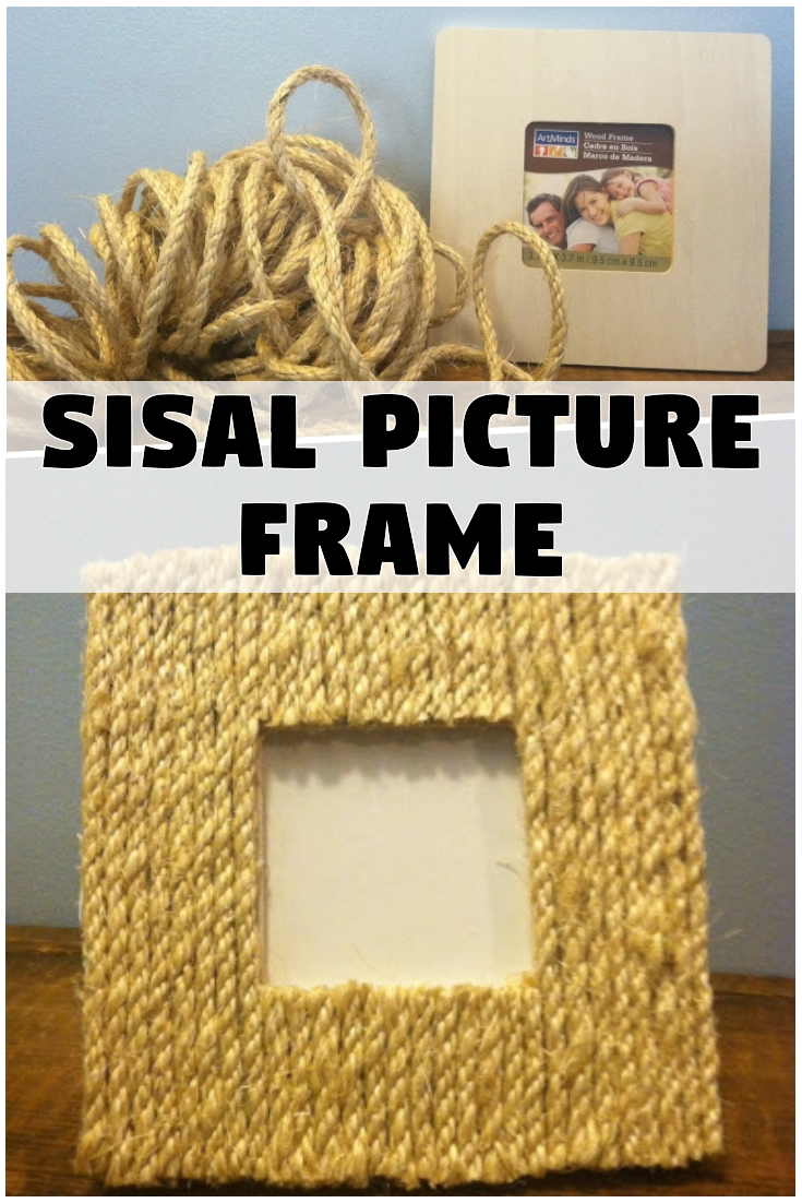 DIY $1 Sisal Picture Frame