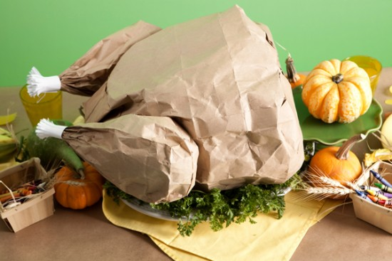 Paper bag Popcorn Stuffed turkey Tutorial