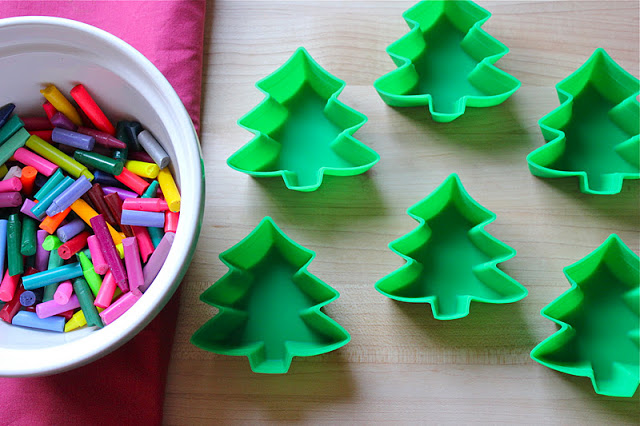 DIY Christmas Tree Crayons