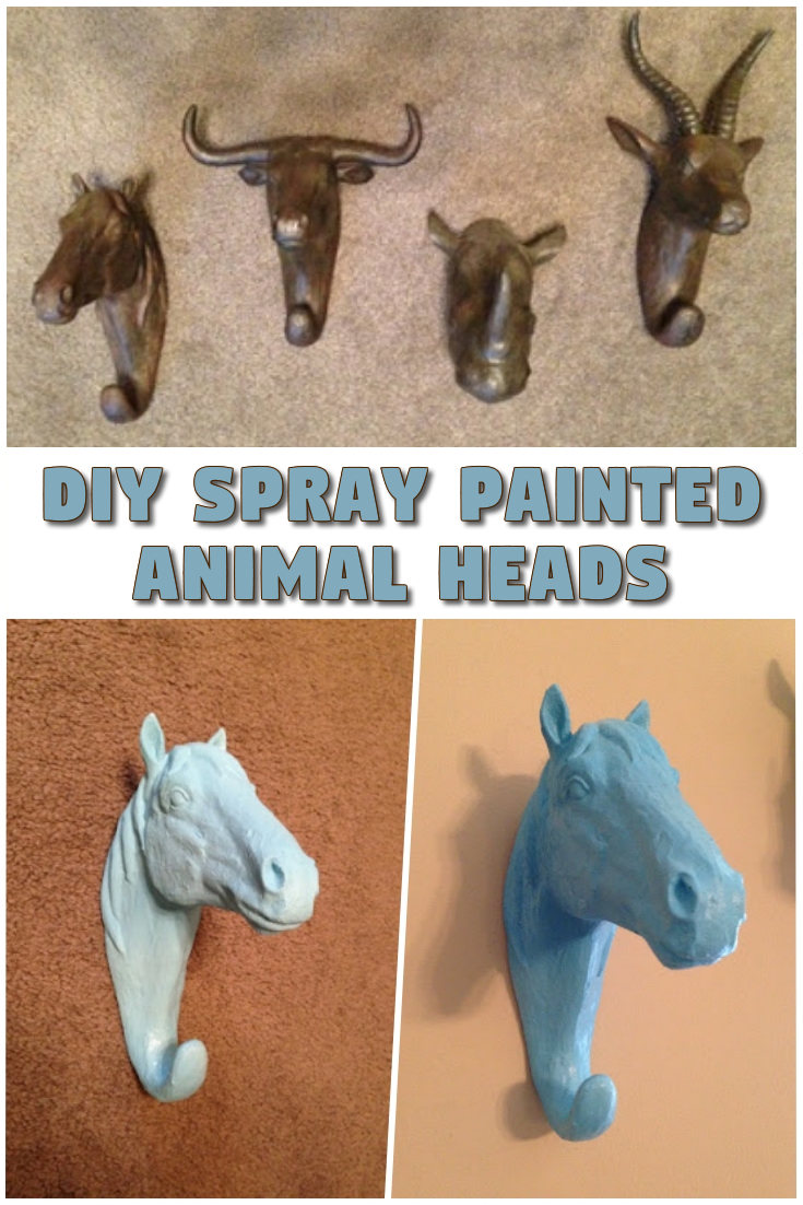 DIY Spray Painted Animal Heads