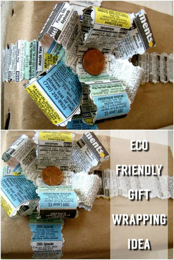 Eco Friendly Gift Wrapping Idea
