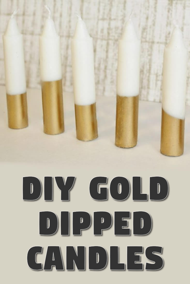 DIY Gold Dipped Candles