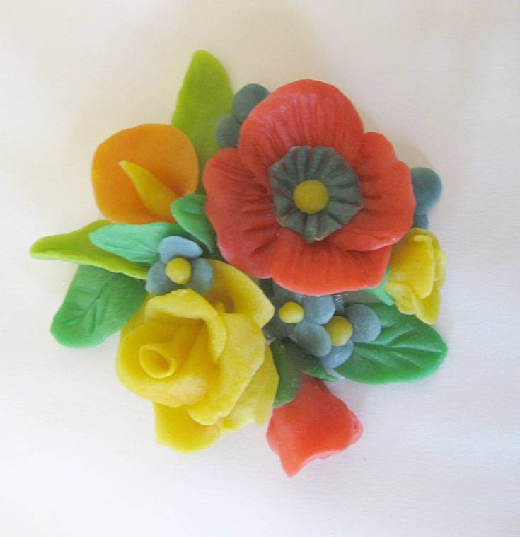 Flower decoration made from bread