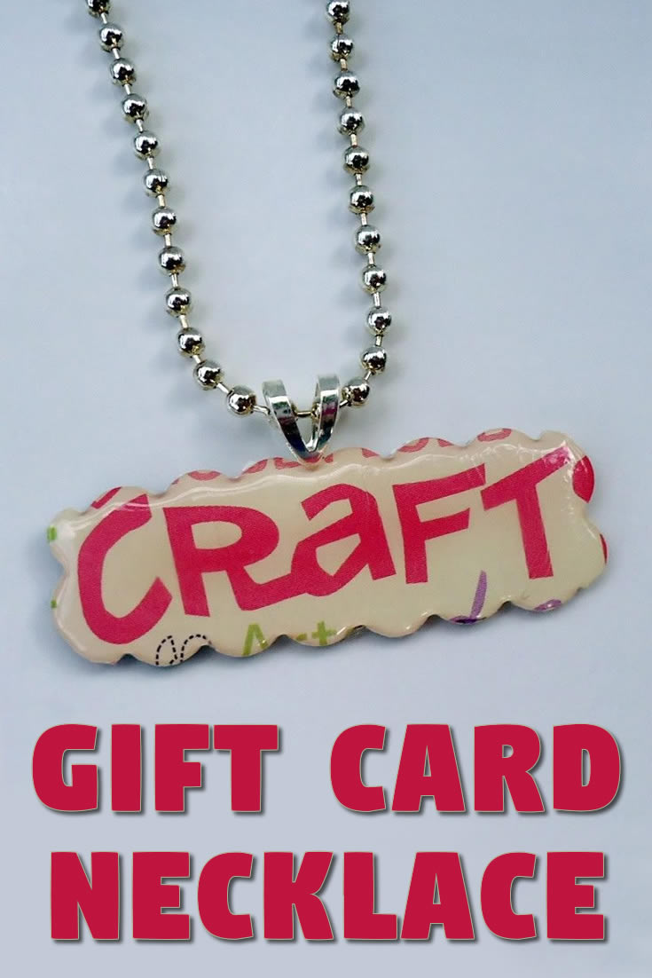 Gift Card Necklace