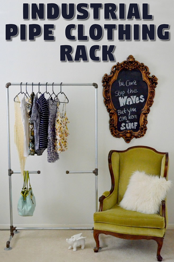 Industrial Pipe Clothing Rack