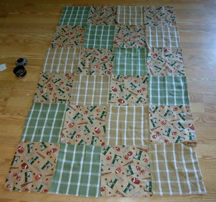 Kitchen Towel Rag Quilt