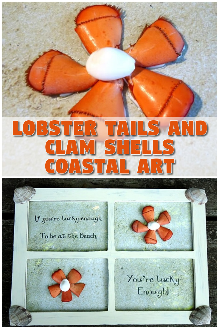 Lobster Tails and Clam Shells Coastal Art