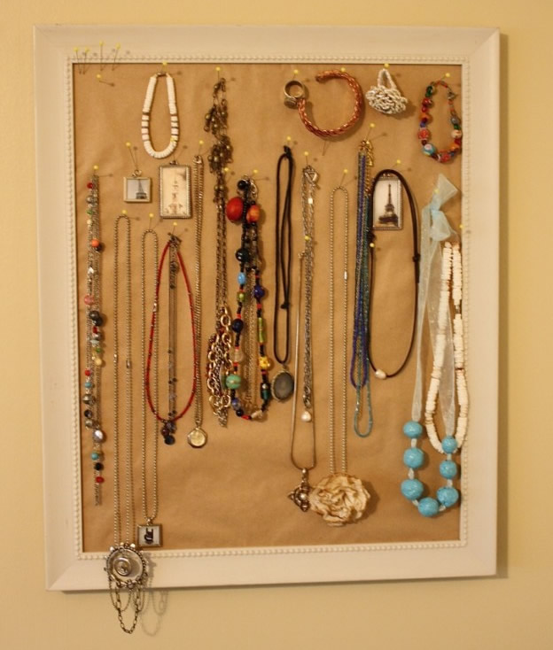 Picture Frame Jewelry Hanger Tutorial