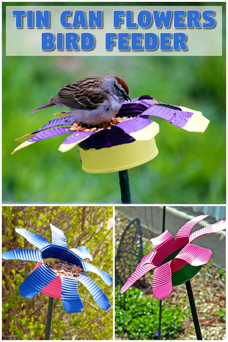 Tin can flowers / Bird feeder
