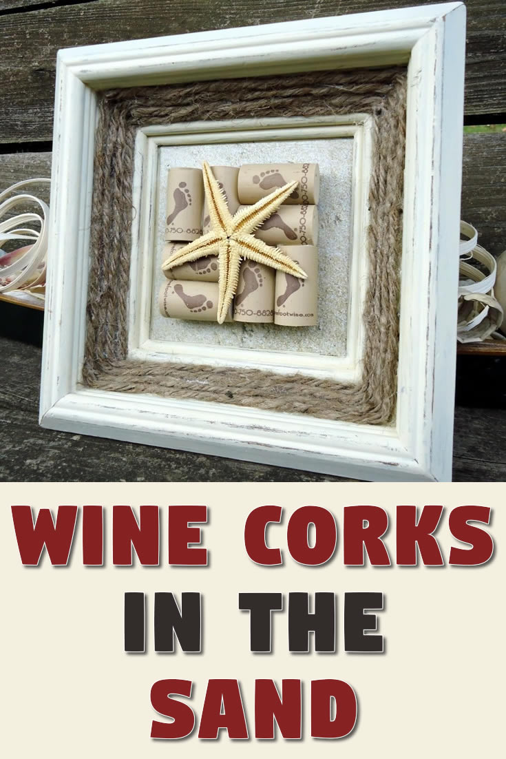 Wine Corks in the Sand
