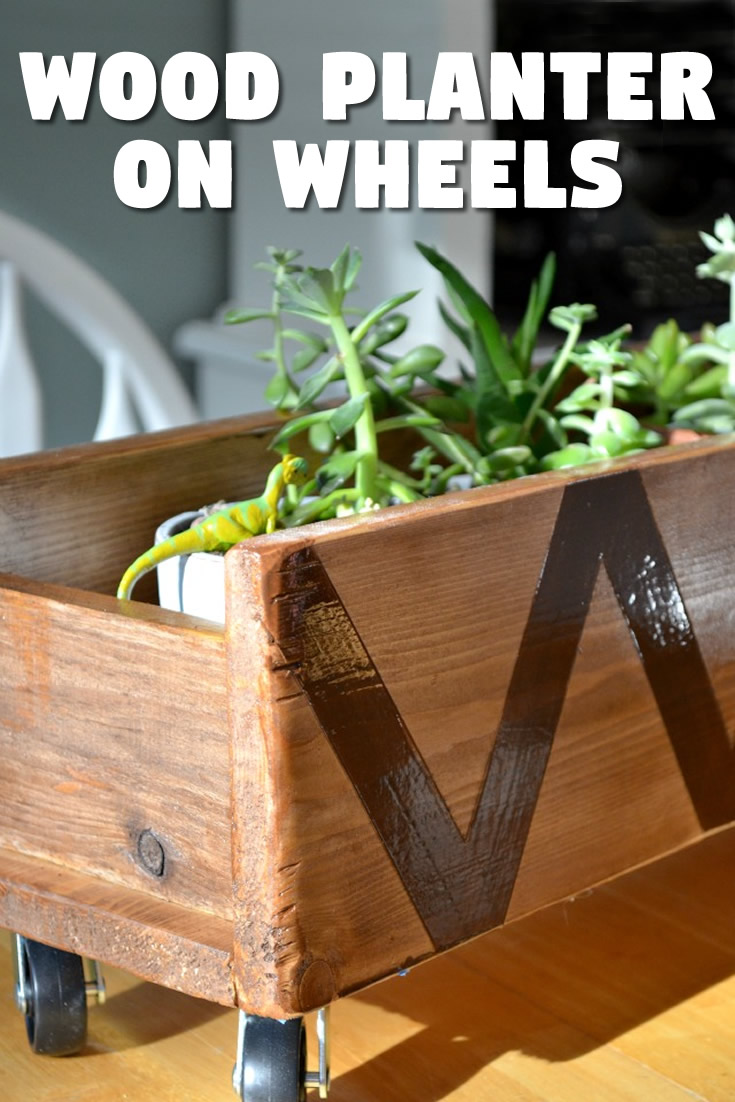Wood Planter on Wheels