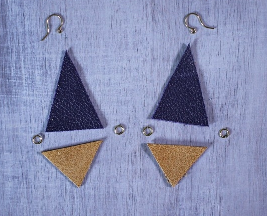 DIY Leather Geometric Earrings