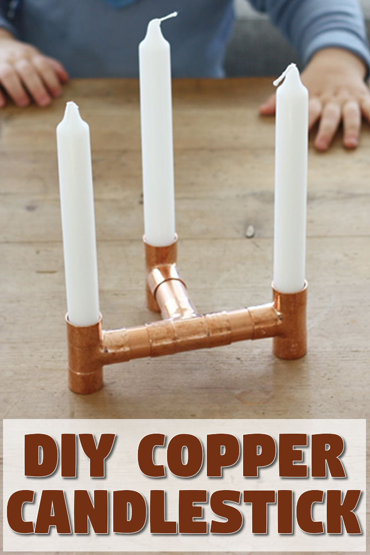 DIY Copper Candlestick