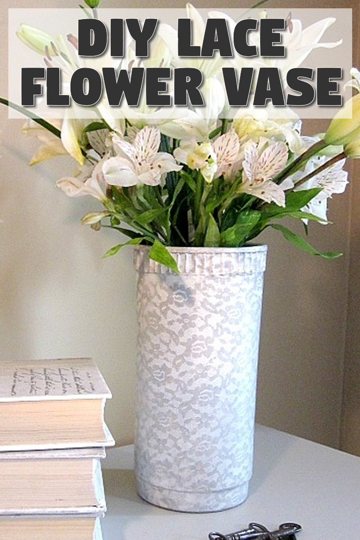 How to make a lace flower vase