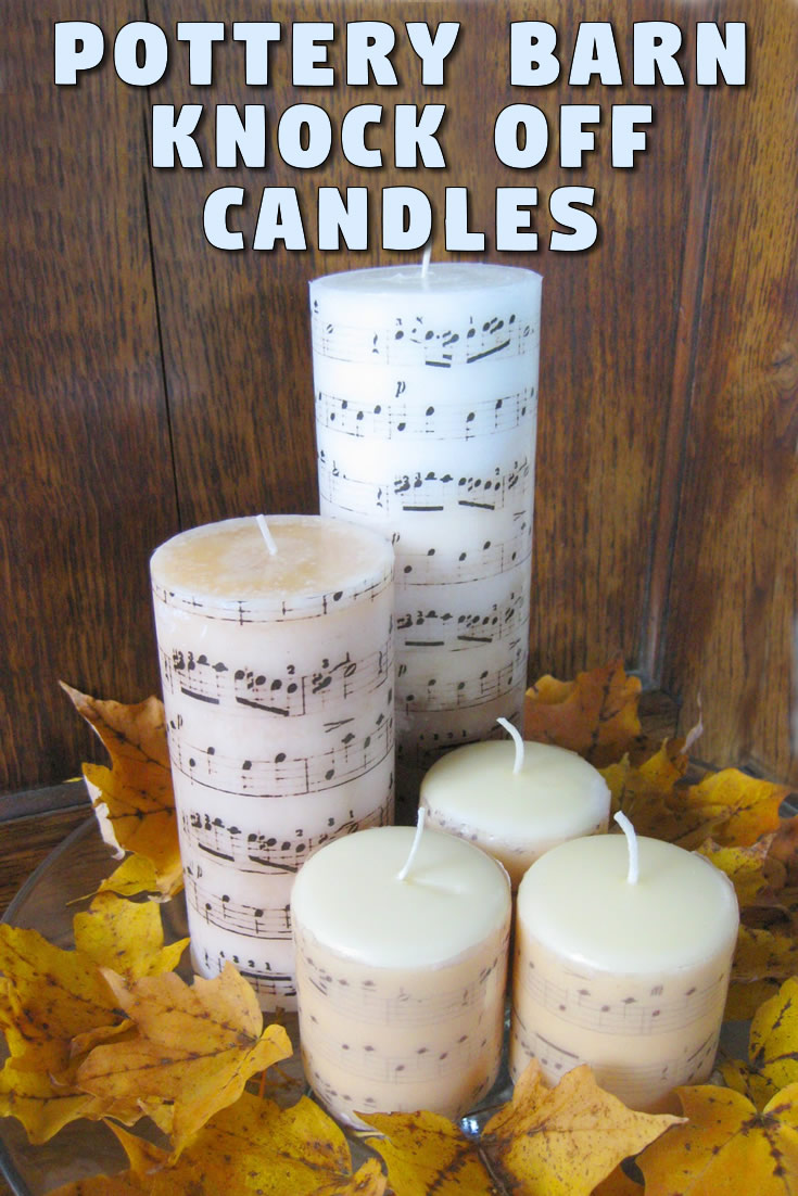 Pottery Barn Knock Off Candles