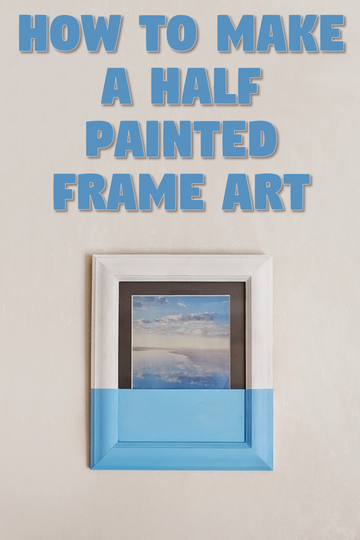 Half painted frame art DIY