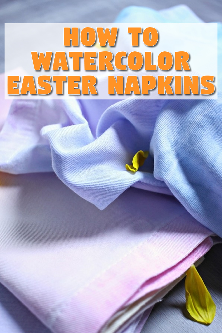 How to Watercolor Easter Napkins
