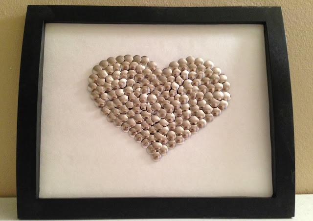 Thumbtack Heart Wall Art