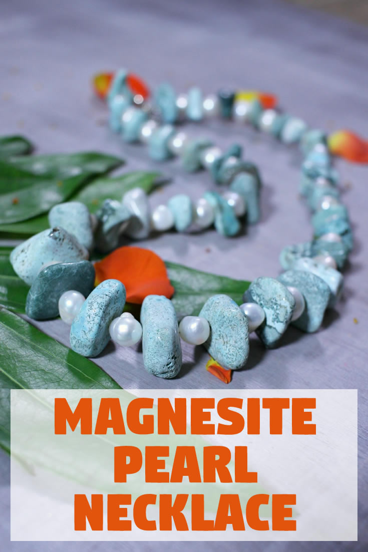 Magnesite Pearl Necklace